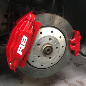 Red Caliper Painting