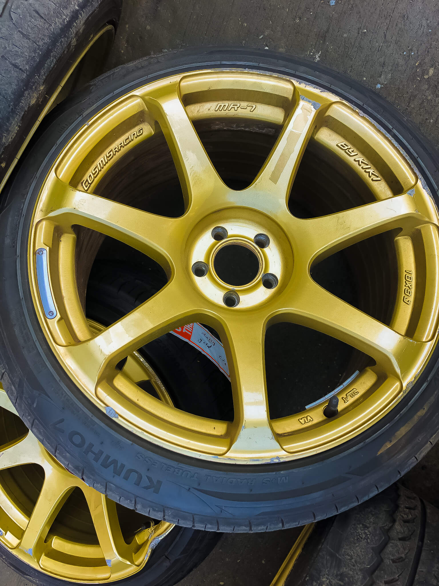 cracked rim tire leak